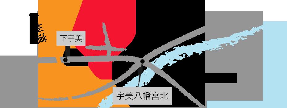 地図 福岡県糟屋郡宇美町 はまなる工房 命名畳 刺繍畳